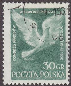 Poland 564 Peace Dove 30Gr 1952