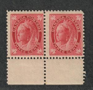 Canada Sc#69 M/F, OG Pair, Cv. $400