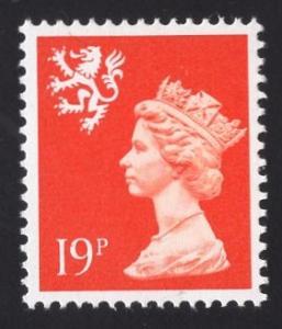 Great Britain Scotland  #SMH37 MNH  Q E II  19p.  Machin