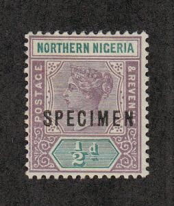 Northern Nigeria Scott #SG1 Specimen Ovpt Unused