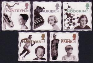 Great Britain Europa CEPT Famous Women 5v 1996 MNH SG#1935-1939 SC#1693-1697