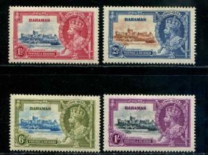 Bahamas SC# 92-5 SG# 141-4 George V Jubilee set MH