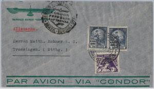 BRAZIL -  POSTAL HISTORY - COVER to GERMANY - VIA CONDOR !! 1936