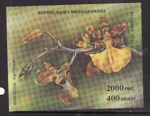 Madagascar Malagasy-Sc#1279-unused NH sheet-Flowers-Orchids-1993-