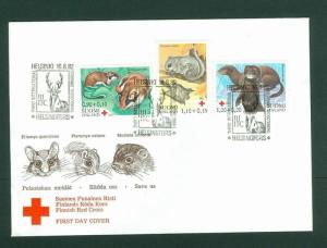 Finland FDC. 1982  Red Cross. Endangered Small Animals. Semi-Postal