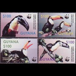 GUYANA 2003 - Scott# 3792a-d WWF-Toucans Set of 4 NH
