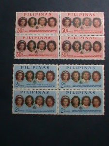 PHILIPPINES-1965-SC# 928//930 VISIT OF KING & QUEEN OF THAILAND -MNH BLOCKS-