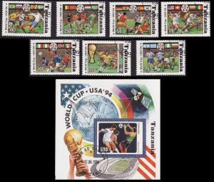 Tanzania Football Cup 7v+MS CTO SG#1892-1898+1899 SC#1174A-1174H