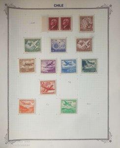 O) 1945 - 1950 CHILE, BENJAMIN VICUÑA MACKENNA - COLUM AND COGWHEEL, PLANE