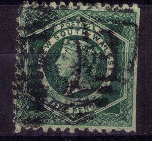 NEW SOUTH WALES Michel 45 DARK GREEN Perf 10 F-VF