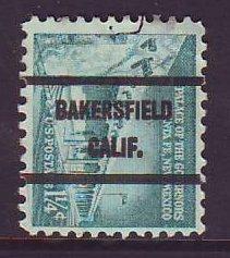 Bakersfield CA, 1031A-71 Bureau Precancel, 1¼¢ Palace of Governors