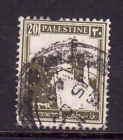 Palestine-Sc#77- id5-used 20m olive green-1927-42-