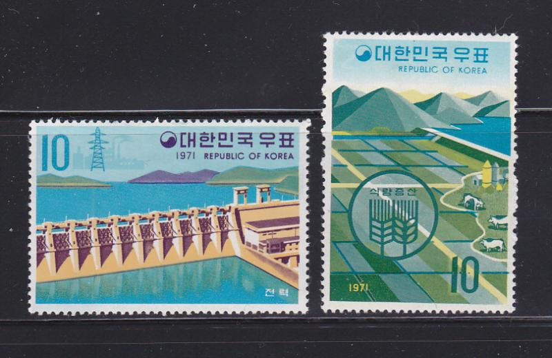 Korea 738, 740 MH Various