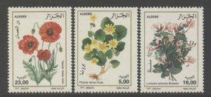 Algeria 1997 Flowers set Sc# 1088-90 NH