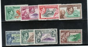 Pitcairn Islands #1s - #8s Very Fine Mint Lightly Hinged Perforated Specimen Set