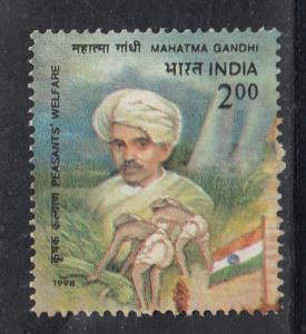 India 1998  # 1671  Mahatma Gandhi    FU    01112