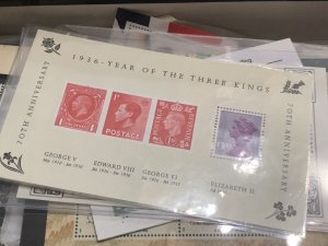 Box Full Of Stamps VERY NICE Mostly Great Britain + Few Glassine's