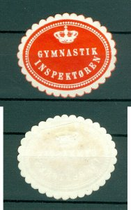 Denmark. Seal Embossed 1940s. MH. Gymnastic Inspector.