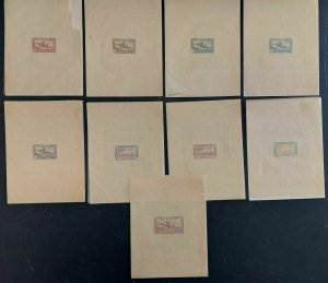 SENEGAL #C17-25, Airmail Complete set, Die Proofs, embossed, VF