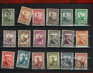 D - Mozambique 1938 Imperio Colonial Portugues  set #289/306 used