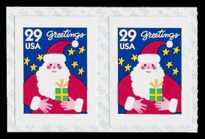 PCBstamps     US #2873v Coil Pair 58›(2x29›)Santa Claus, 1994, MNH, (4)