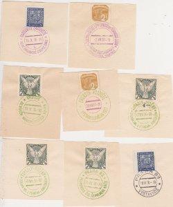 Czechoslovakia 1930s colored event postmarks