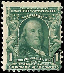 300 Mint,OG,HR... SCV $11.00... Sound Stamp... Penny Auction