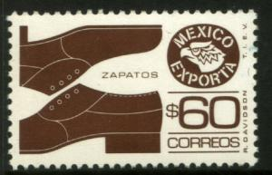 MEXICO Exporta 1467 $60P Shoes 11 1/2 X 11  Fluor Paper 8 MINT, NH. VF.