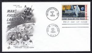 US C76 Moon Landing Artcraft U/A FDC