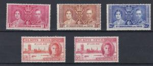 ST KITTS  1937 - 46  CORONATION & VICTORY SETS   M H