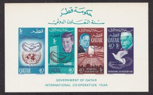 Qatar # 100C (footnote), International Cooperation Year, NH, 1/2 Cat.
