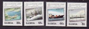 Samoa-Sc#624-7-Unused NH set-Ships-Lloyd's List-1984-