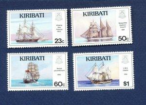 KIRIBATI - Scott 687-690 - FVF MNH -  Ships Boats - 1996