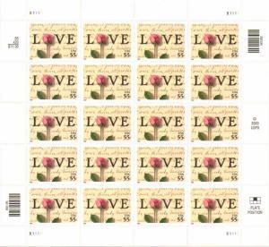 US 3499 - 55¢ LOVE Unused