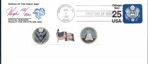 Pugh Designed/Painted Bureau of Public Debt FDC...194 of 200 created!
