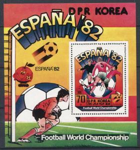 1981 Korea,North 2097/B93 1982 World championship on football of Spain 10,00 €