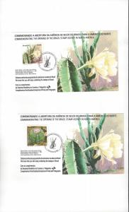 Brazil Two Commemorative Cards For Opening of Brazil Stamp Agency in US