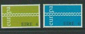 IRELAND SG302/3 1971 EUROPA MNH