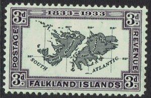 FALKLAND ISLANDS 1933 CENTENARY 3D MAP