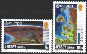 Jersey. 1982. 278-80 from the series. Map, Europe-Sept. MNH.