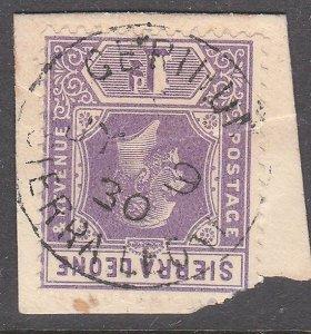SIERRA LEONE 1930 GV 1d on piece - GERIHUN cds..............................7196