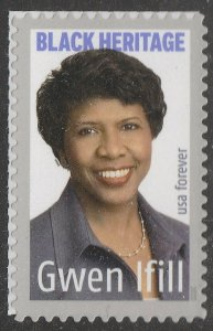 US 5432 Black Heritage Gwen Ifill forever single (1 stamp) MNH 2020
