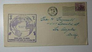 Los Angeles CA Playgrounds Stamp Exhibit 1934 Philatelic Expo Cachet Cover