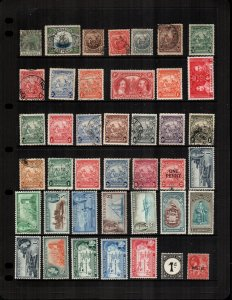 Barbados mint hinged  and used  lot of 37 cat $ 33.00
