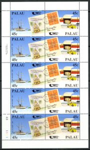 PALAU 1990 PACIFICA Stamp Exhibition Set in Miniature Sheet Sc 248a x5 MNH