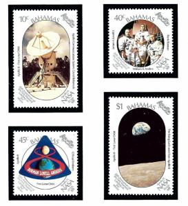 Bahamas 674-77 MNH 1989 20th Anniv of Moon Landing