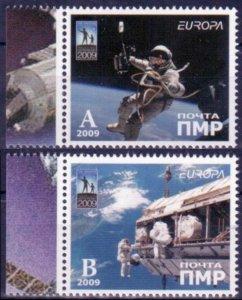 2009 Transnistria PMR 2v Europa CEPT - Astronauts in space