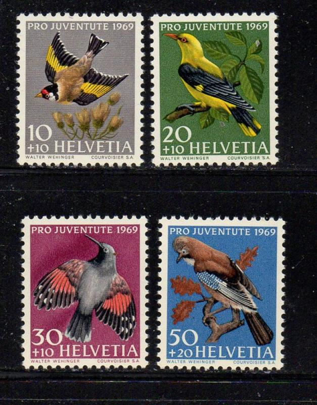 Switzerland Sc B386-89 1969 Pro Juvente stamp set mint NH