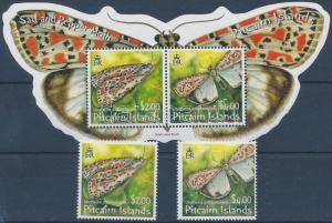Pitcairn Islands stamp Butterflies set + block 2005 MNH Mi 678-679 + 39 WS205607