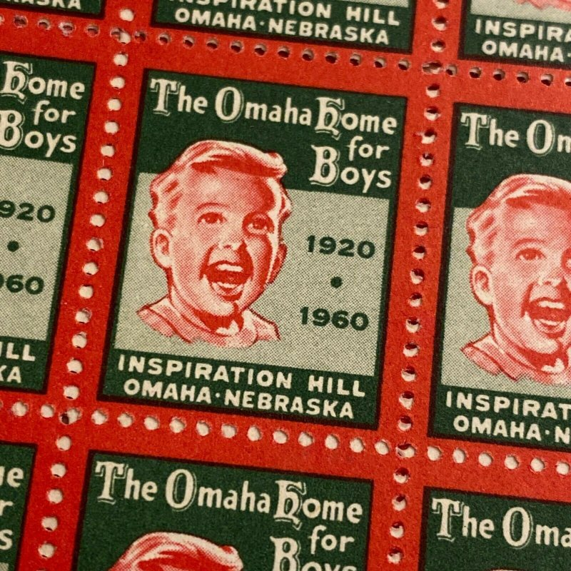 Omaha Home for Boys early 1960s cinderella stamp seal lot 4 designs
